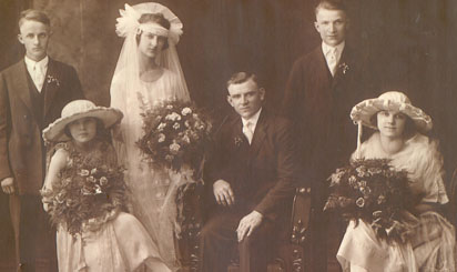 Marriage of Leo Rogalski and Mary Zawacky