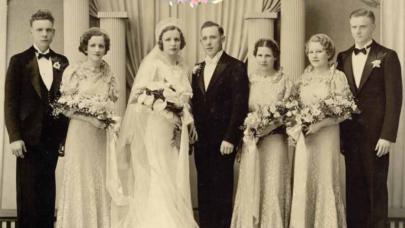 Wedding of Marie Rogalski to Stanley Rochnowski
